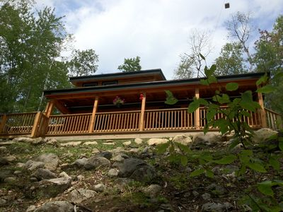 View of the Cabin Facing the River