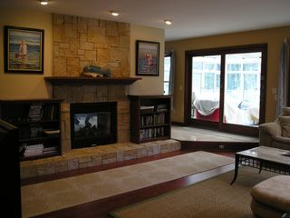 Saugatuck / Douglas house photo - Gas Fireplace in Livingroom
