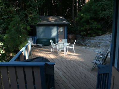 Spacious deck to enjoy the mountain air!