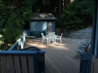 Pollock Pines cabin photo - Spacious deck to enjoy the mountain air!