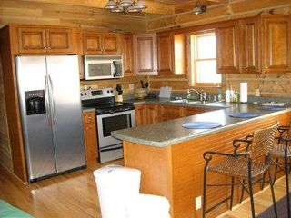 Nancy cabin photo - Kitchen with counter seating