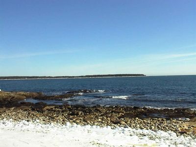 Southwest Harbor house rental - Seawall Beach in Winter
