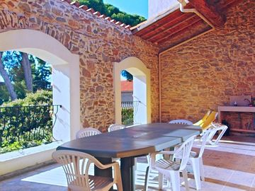 Sun drenched private terrace