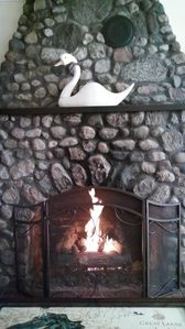 Romantic evening in front of the fire - Swan at Stonehearth.