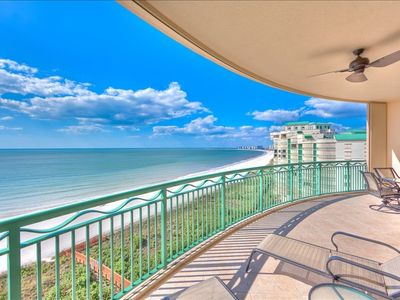 Sweeping View Of Beach And Gulf Of Mexico From The Lanai