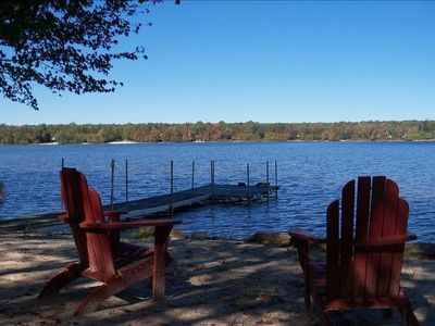 Beautiful Lakefront Home with Private Beach, Dock; Very Clean!