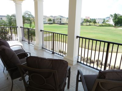 Balcony overlooking stuning golf course
