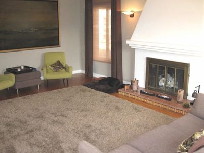 Far Side of Living Room with Fireplace