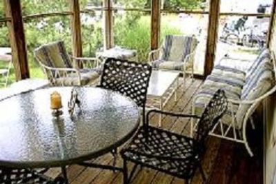 Screened Porch for dining, relaxing, sunset views