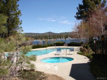 Bayshore Ski & Racquet condo rental - One of two pools and hot tubs. This pool is by the lake.