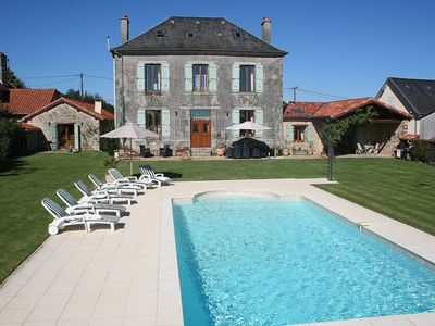 Old Mairie And Converted Barn Nr St Yrieix La Perche, Haute Vienne, Limousin - Ancienne Mairie Sleeps 10 (5 Bedrooms)