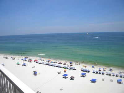 Watch the parasailers from the balcony, or go enjoy the water!