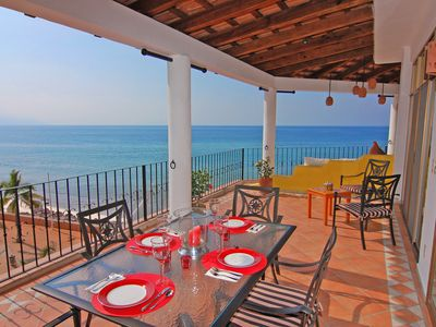 Puerto Vallarta condo rental - Dine And Relax On The Terraza Morning And Night. Wonderful!!