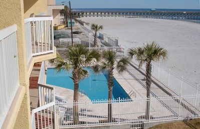 Charleston Oceanfront Villas - Balcony view to one side pool and boardwalk