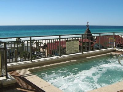 Best Jacuzzi Hot Tub on the Beach! Your beach condo is just two levels up !