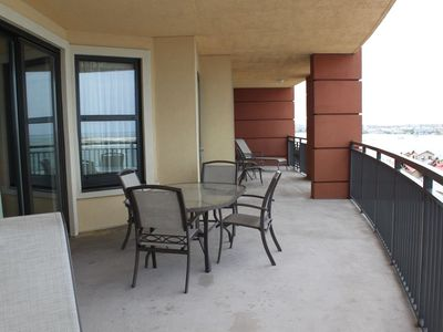 There is one word for the balcony - HUGE! 800 Square feet of wraparound views.