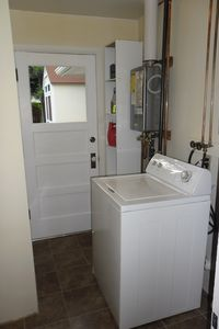 Laundry area, dryer is around the corner