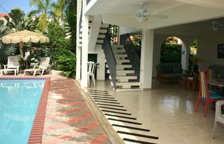 Rincon house photo - Comfortable and private poolside area