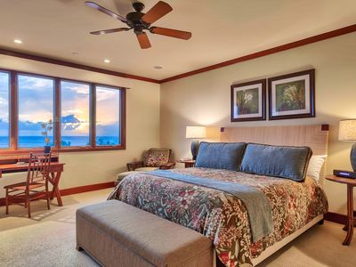 Amazing ocean views from the master suite! View the Pacific Ocean from your bed.