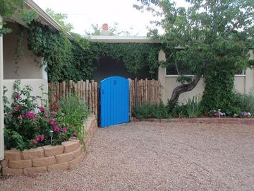 Santa Fe house rental - Front Gate to Casa Alissa