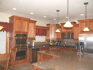 Colorado Springs house photo - Fantastic kitchen, granite Coffee center stocked! Prep sink, warming drawer MORE