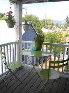 Summertime on the veranda - mountain view from bistro set is terrific!
