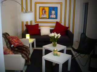 Midtown Manhattan apartment photo - very comfy living area with LED tv, apple tv so you can enjoy your iTunes accoun