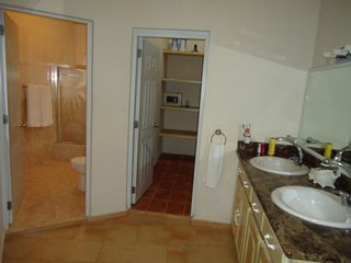 Playa Cofresi villa photo - one of the large bathrooms twin basins/marbletop/walkin closet/safe bidet/shower