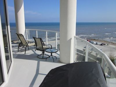 Large Circular Balcony Perfect for Relaxing with the Gulf Waves and Sunsets!