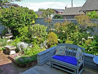 Bodega Bay cottage photo - Garden from front yard deck opposite front door