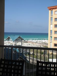 The master bedroom has a great view of the gulf! Wake up to a marvelous view!
