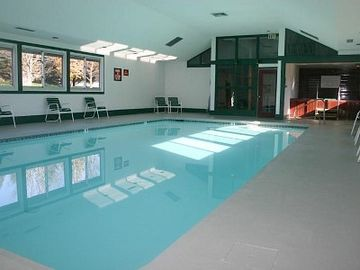 Indoor heated pool and jacuzzi