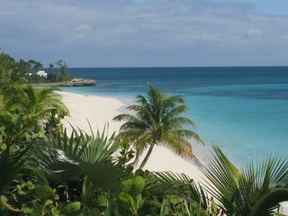 Elbow Cay and Hope Town villa photo - A close look at the beach 40' below from the deck. It doesn't get much better!