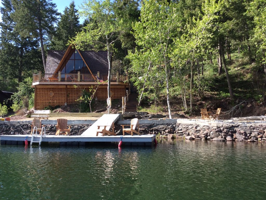 Waterfront Williams Lake Cabin Idaho Lakefront Rocky Mtn