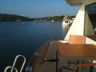 Enjoy a quiet morning on the aft deck