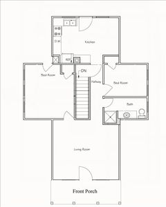 Captains View Villas apartment rental - Third Floor Layout