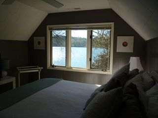 Lake Toxaway cottage photo - Master--Wake to a Lake View! TV
