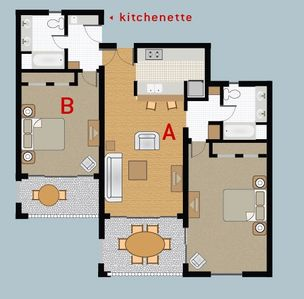 Master Suite (A) and Studio (B)