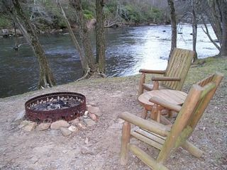 Ellijay cabin photo - Fish and dine at the river's edge.