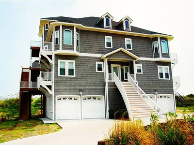 North Topsail Beach house rental - Front of house faces the Intercoastal Waterway