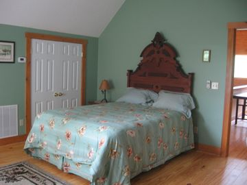 Upstairs bedroom, queen bed. Amazing views. Lg. Walk-in closet.