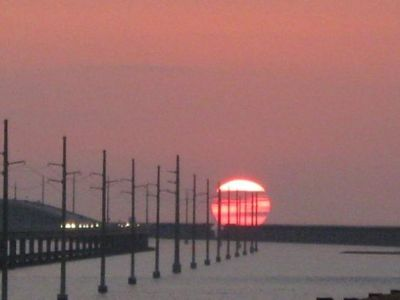 Sunset at nearby 7-mile bridge