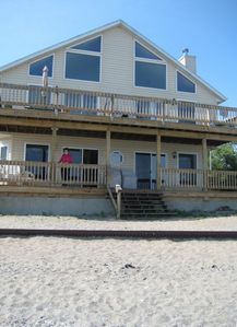 View of beachfront side of property - picture taken from beach