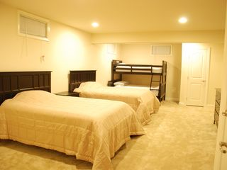 Rehoboth Beach house photo - Bedroom V with 2 full-size beds + a large bunkbed