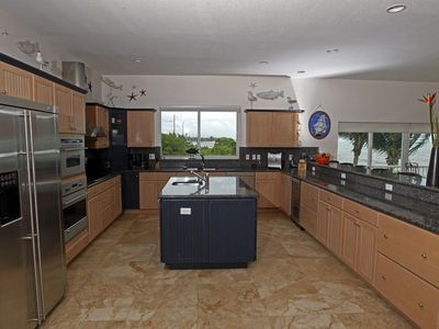 Islamorada house rental - spectacular fully equipped stainless kitchen w/ great beach views!