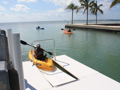 New kayak dock allows you to launch and retrieve you kayaks with ease.
