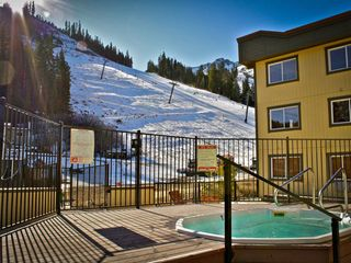 Squaw Valley - Olympic Valley condo photo - Jacuzzi with View of Mountain from Red Wolf Lodge at Squaw Valley