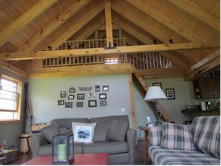 Paradox Lake house photo - The loft has two single beds a tv and a combo foosball air hockey table