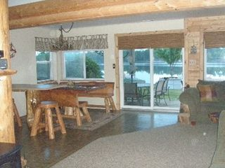 Lapeer cabin photo - Open floor plan- Right is living area and left is dining room/kitchen area