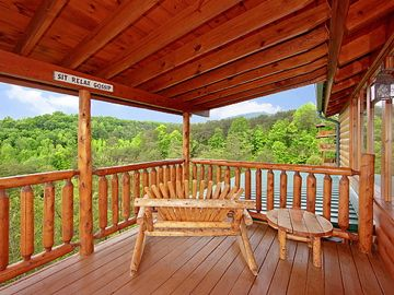 private upper level deck with views